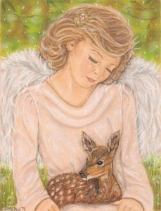 Angel With Baby Deer