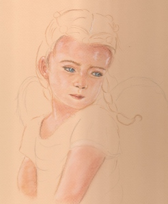 angel girl in progress