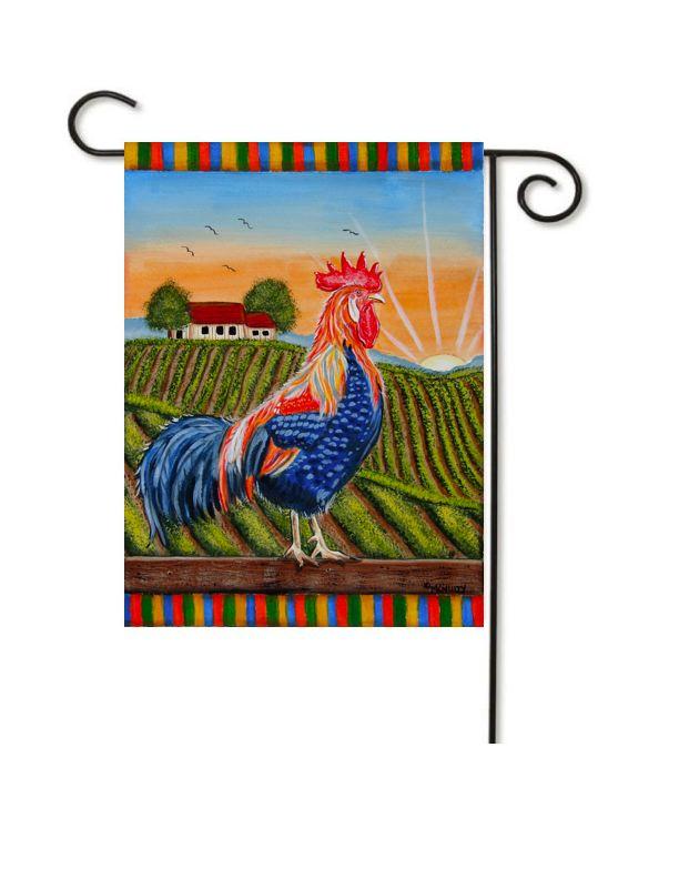 rooster garden flag